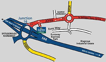 Map to Holiday Inn Express